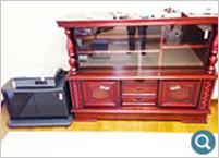 サイドボード、テレビ台、ビデオの回収